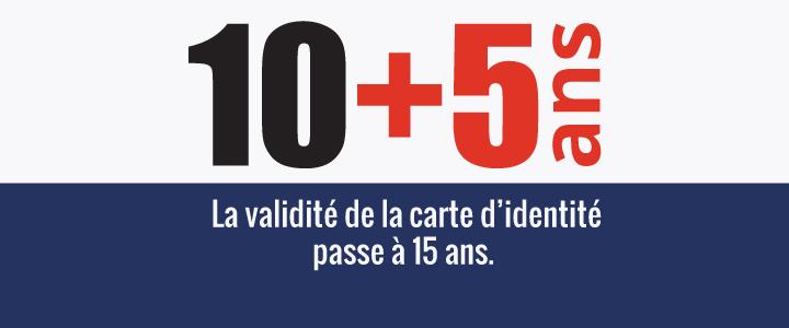Extension de la durée de validité de la carte nationale d'identité