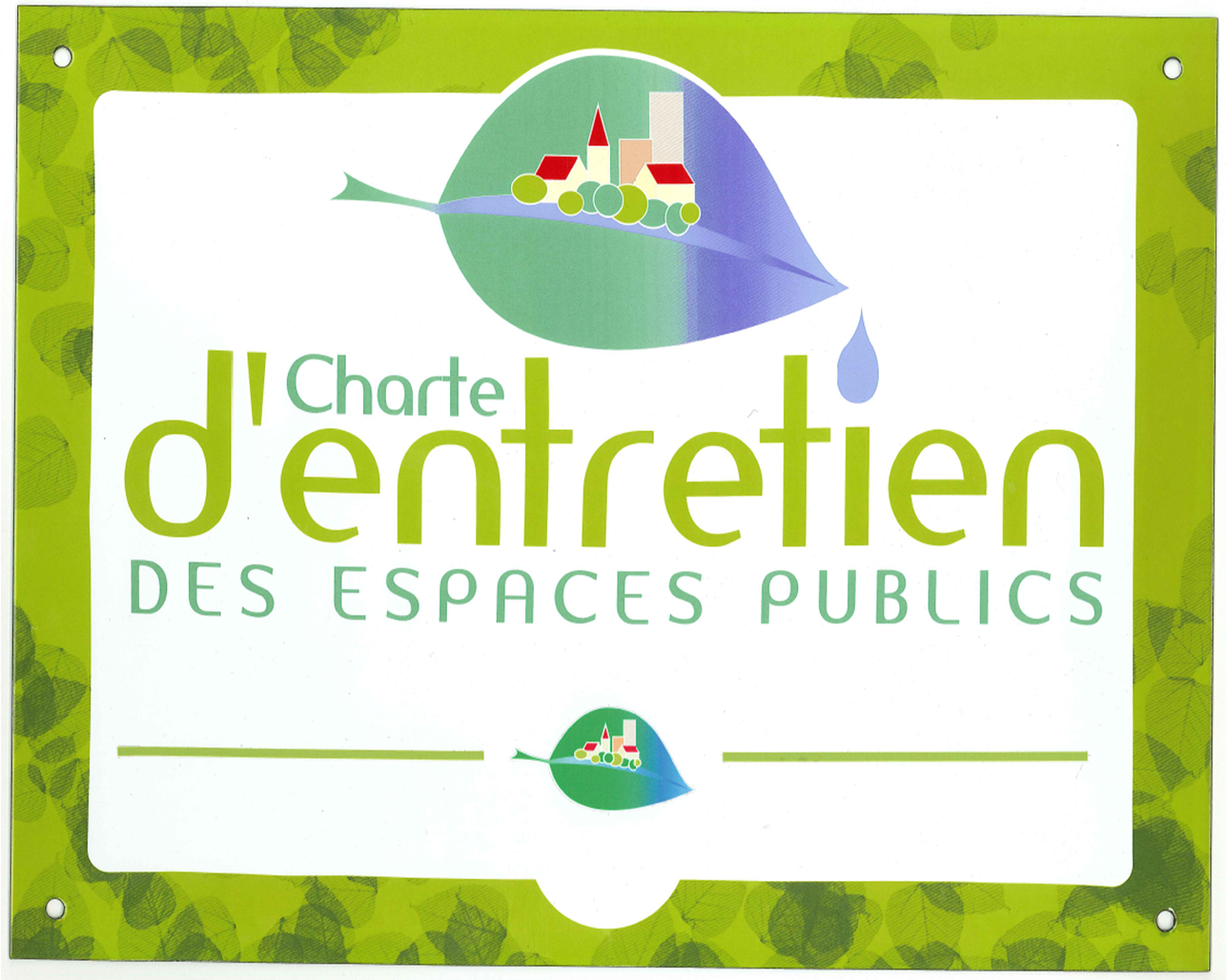 Charte entretien espaces publics