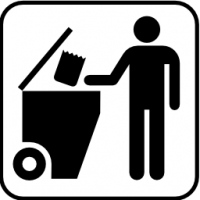 Pictograms nps services trash dumpster