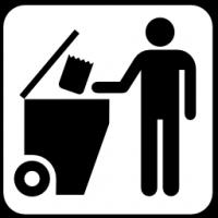 Pictograms nps services trash dumpster