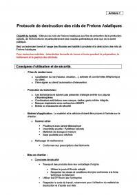 Protocole de destruction Page 1